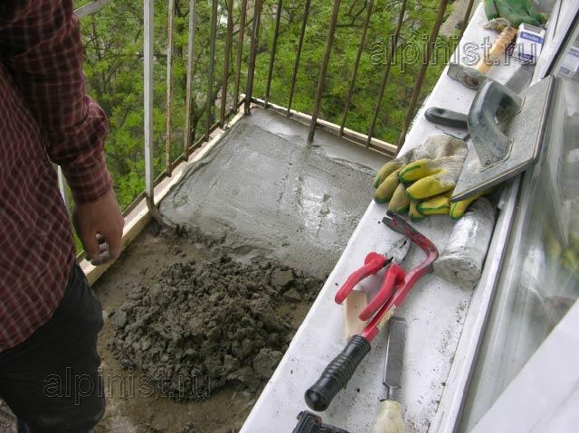 Как сделать балкон из бетона 243