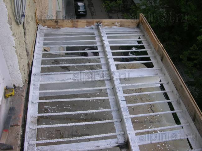 Как сделать балкон из бетона 389
