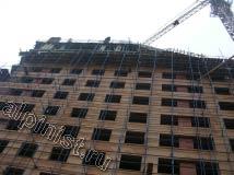 А на этой фотографии видно, что на объекте ведутся строительные работы, работает тяжелая техника и подъемные  краны.